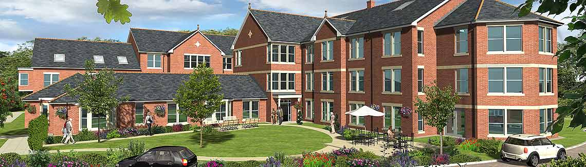 A artist's impression of the new care home in Leeds.