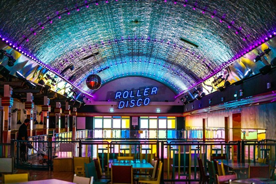 Image of a roller skating disco