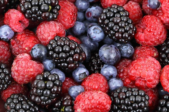 Picture of mixed berries.