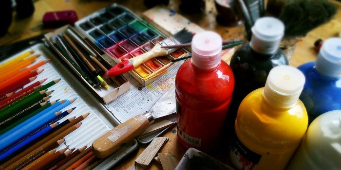 A set of painting materials