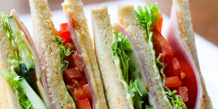 a plate of healthy sandwiches