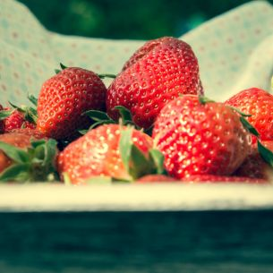 A punnet of strawberries