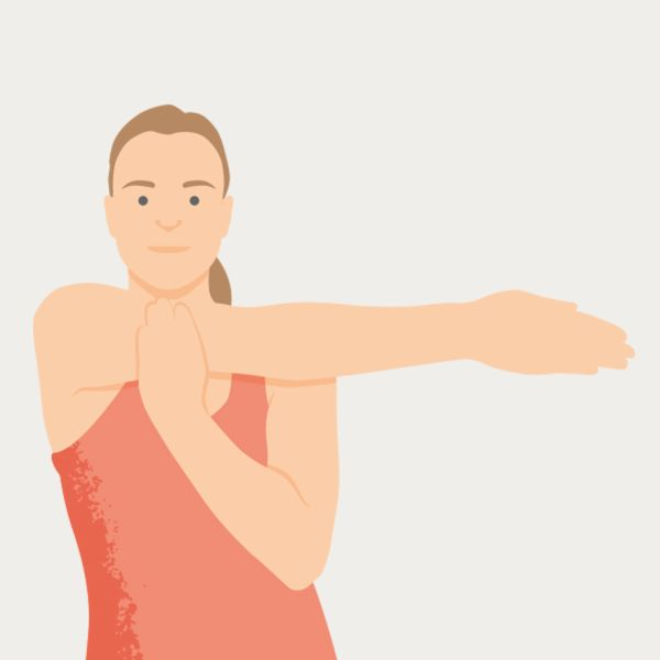 an illustration of a shoulder stretch