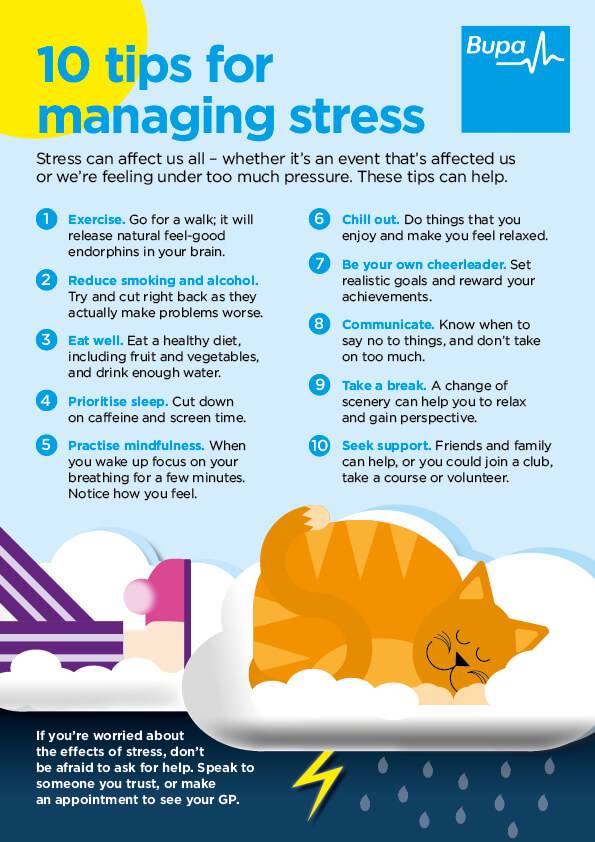 10 tips for managing stress infographic