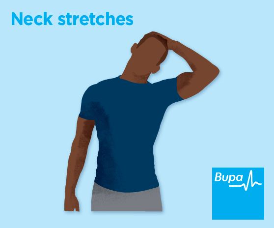 Illustration of a neck stretch