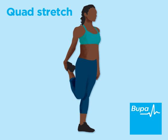 Illustration of quad stretch
