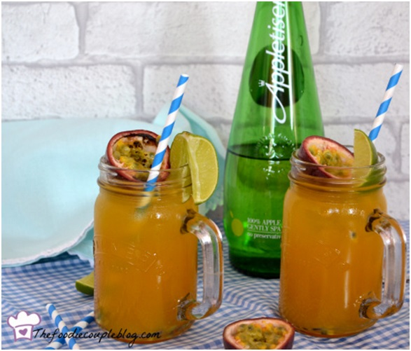 Tropical fizz mocktails