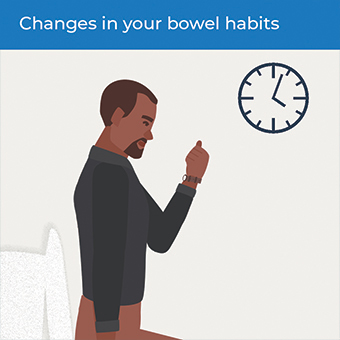 An image showing changes in bowel habits