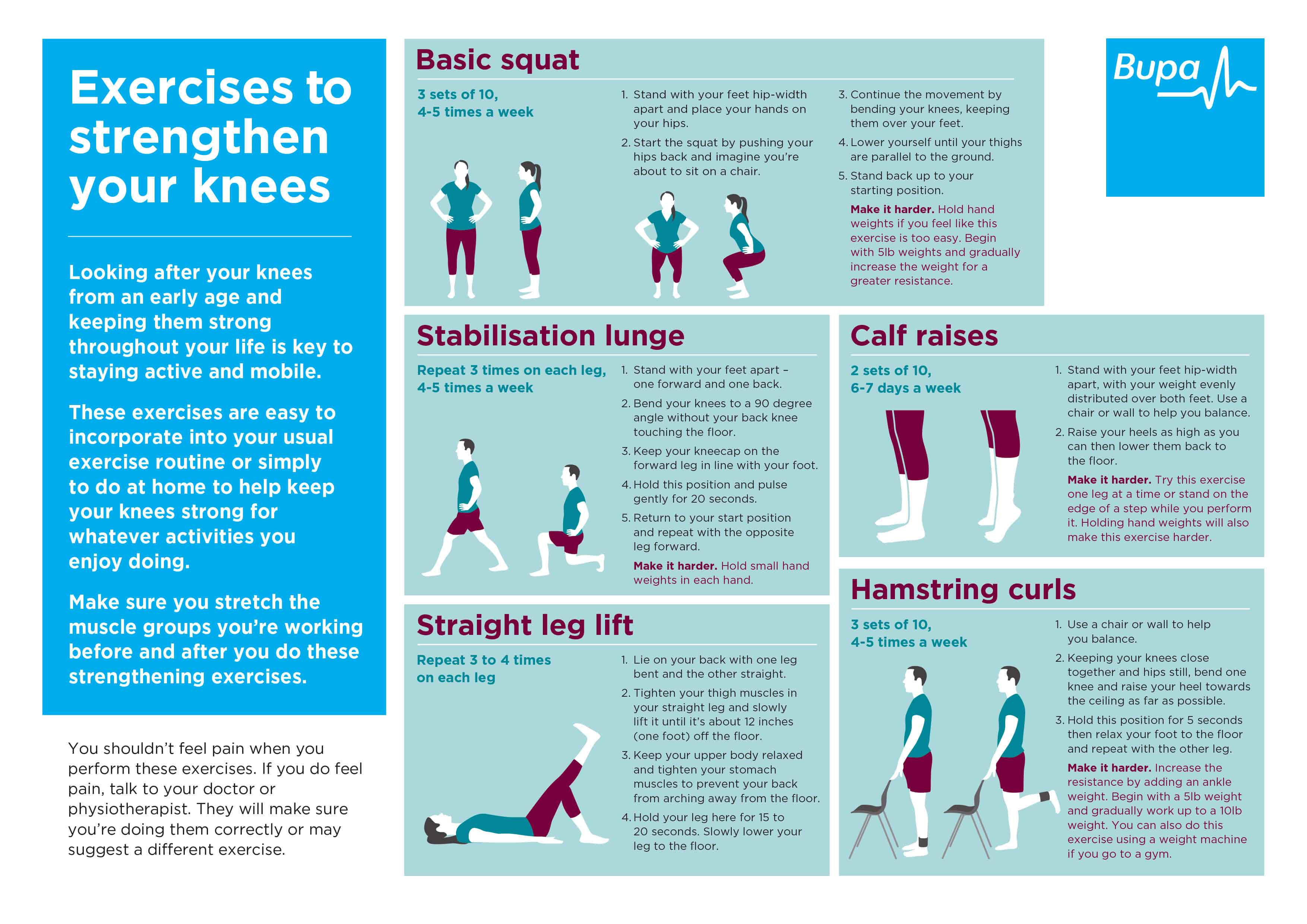 Exercises to strengthen your knee