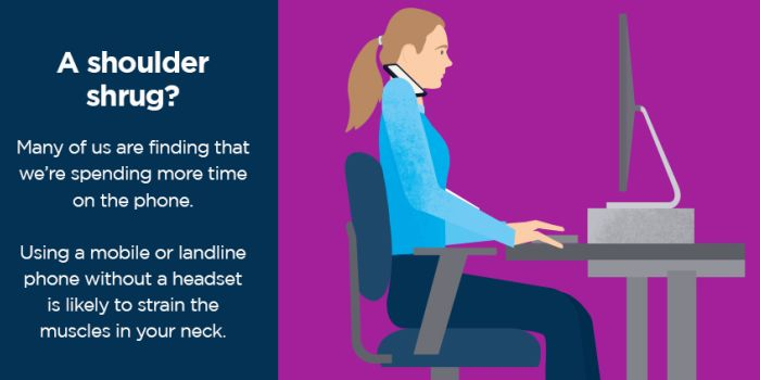inforgraphic of a shoulder shrug sitting position while working
