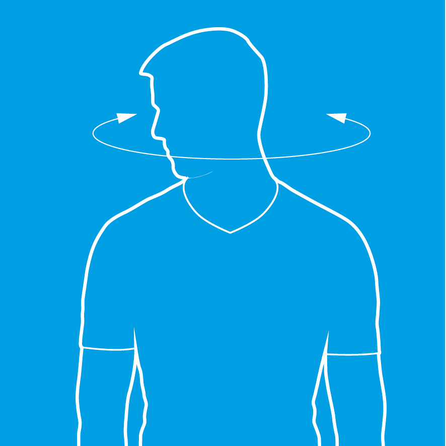 An image of a man doing neck rotations