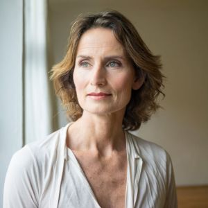 An image of a mature woman on a personal story about endometriosis