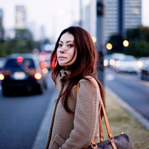 A woman crossing the road - personal story about endometriosis