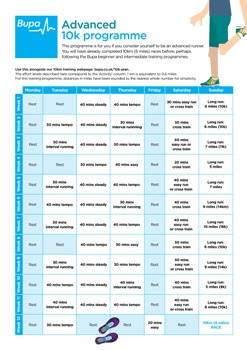 Image Of Bupas Advanced 10k Running Programme