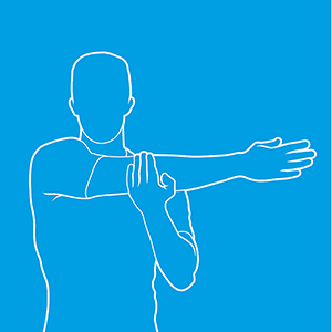posterior shoulder stretch diagram
