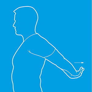 Shoulder extension one diagram. Standing up, stretch your arms out behind you
