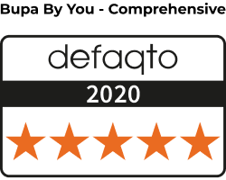 Defaqto BBY Comprehensive 2019 medium. Five stars